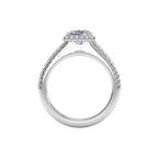 Ritani 14K White Gold Diamond Engagement Ring 1PC3702