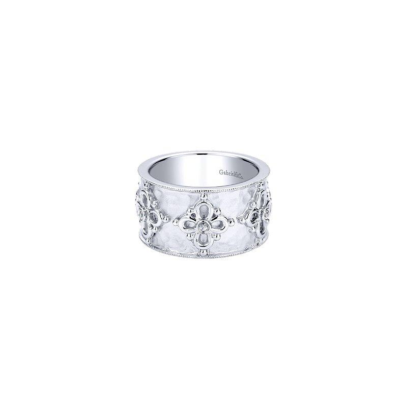 Gabriel Sterling Silver White Sapphire Fashion Ring LR50008SVJWS