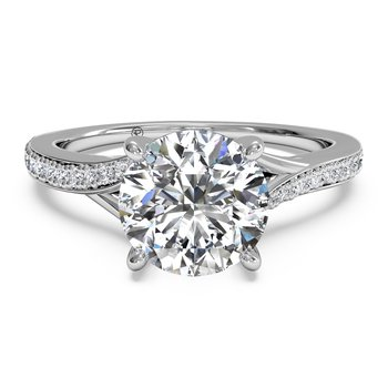 14K White Gold Diamond Engagement Ring 1R2490