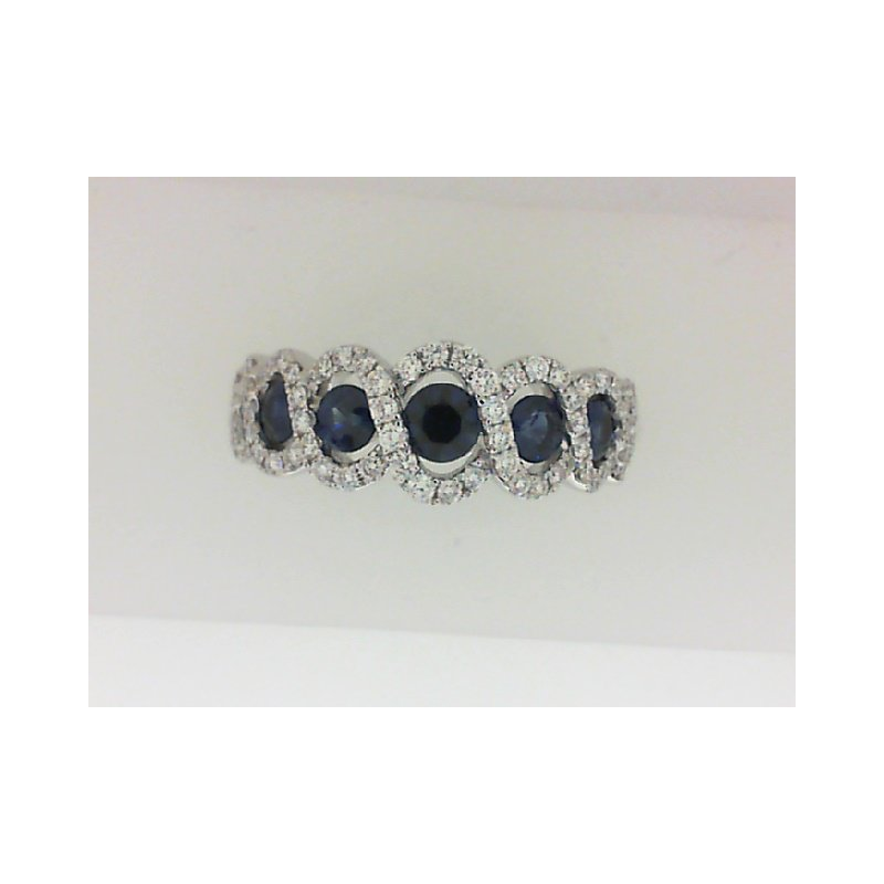 Fana 14K White Gold Diamond & Sapphire Fashion Ring