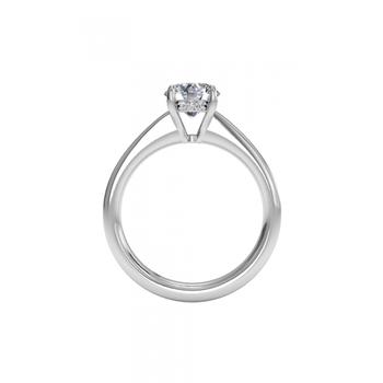14K White Gold Diamond Engagement Ring 1R1966