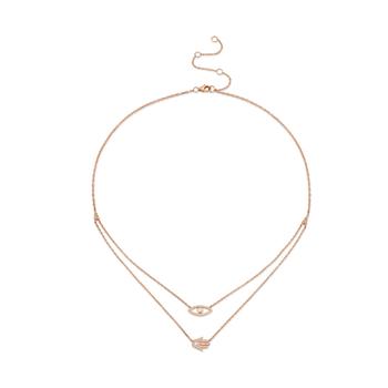 14K Rose Gold Diamond Evil Eye & Hamsa Layered Necklace