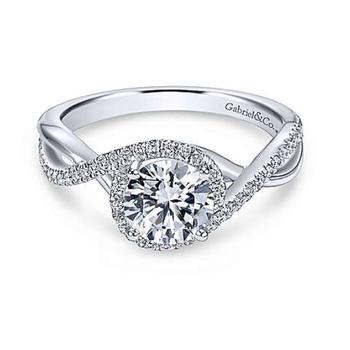Courtney 14K White Gold Round Diamond Engagement Ring