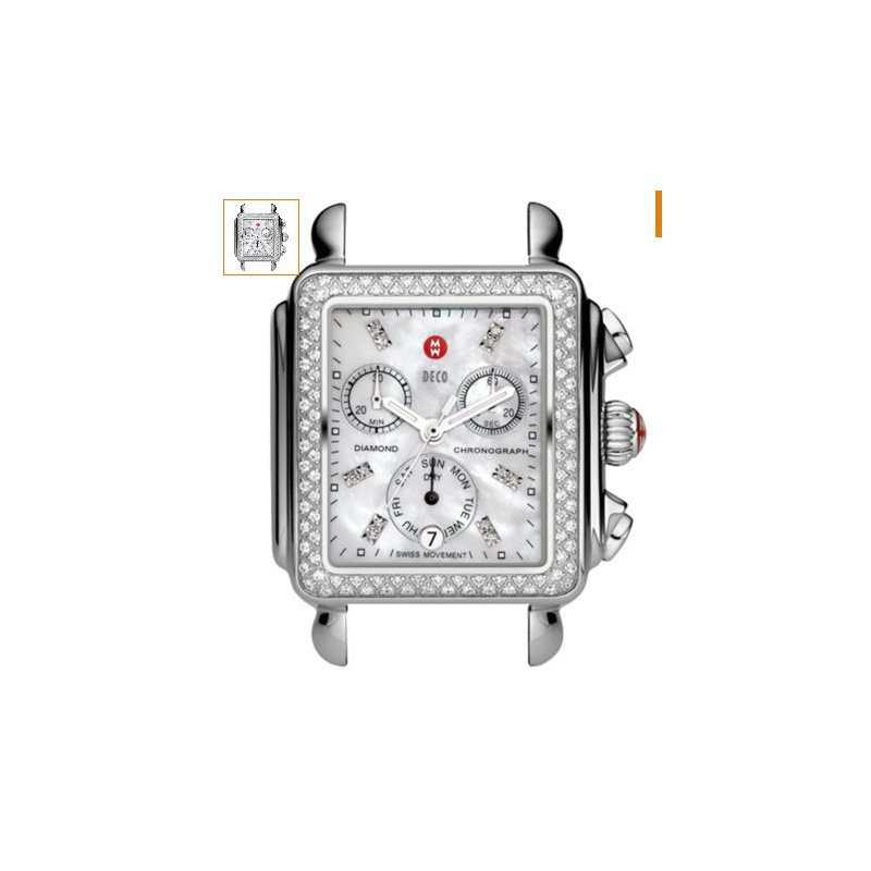 MICHELE Deco Diamond, Diamond Dial Watch