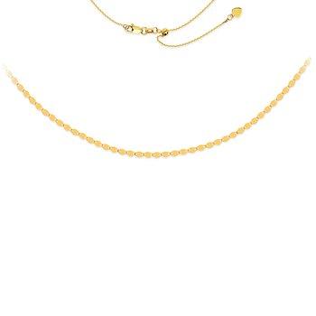 "17"" Valentino Chain Adjustable Choker Necklace"