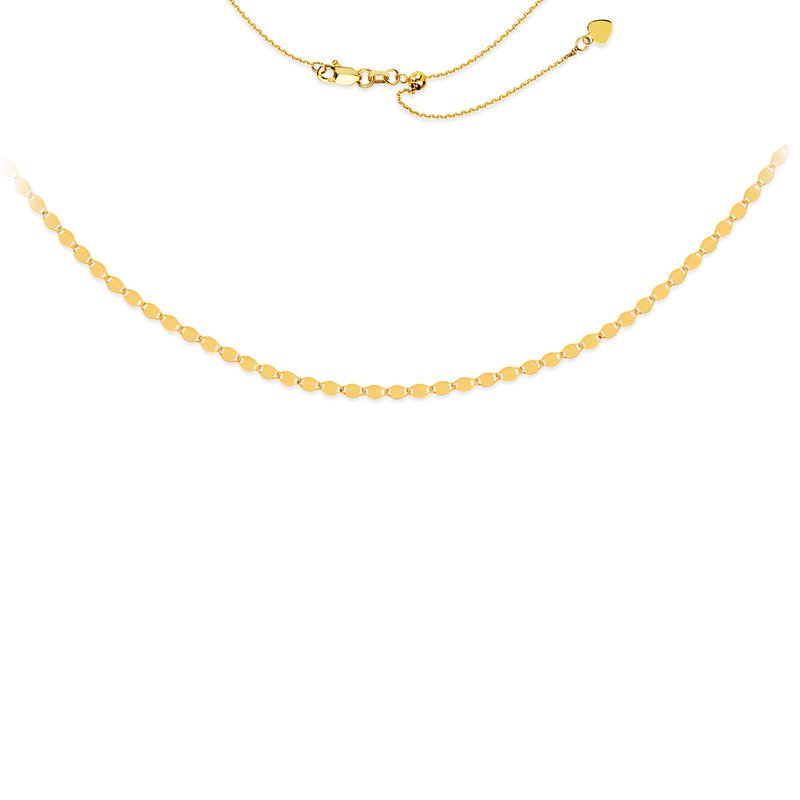 "Midas 17"" Valentino Chain Adjustable Choker Necklace"