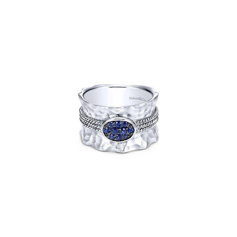 Gabriel Sterling Silver & Blue Sapphire Fashion Ring LR50027SVJSA