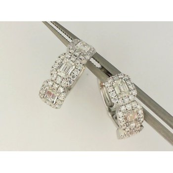 18K White Gold Forevermark Diamond Huggie Earrings