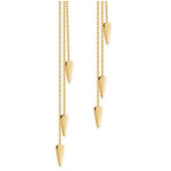 14K Yellow Cable Chain & Dagger Earrings