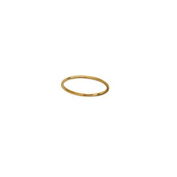 14k Yellow Gold Wire Stackable Ring
