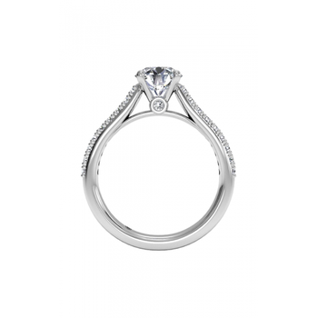 14K White Gold Diamond Engagement Ring 1R2489
