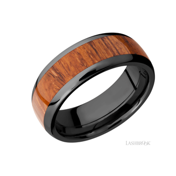 Zirconium & Desert Ironwood Men's Wedding Band