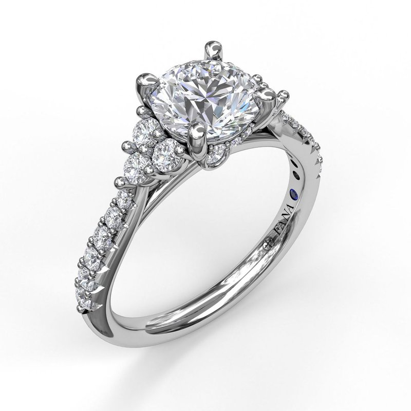 Fana 14K White Gold Diamond Engagement Ring S2374