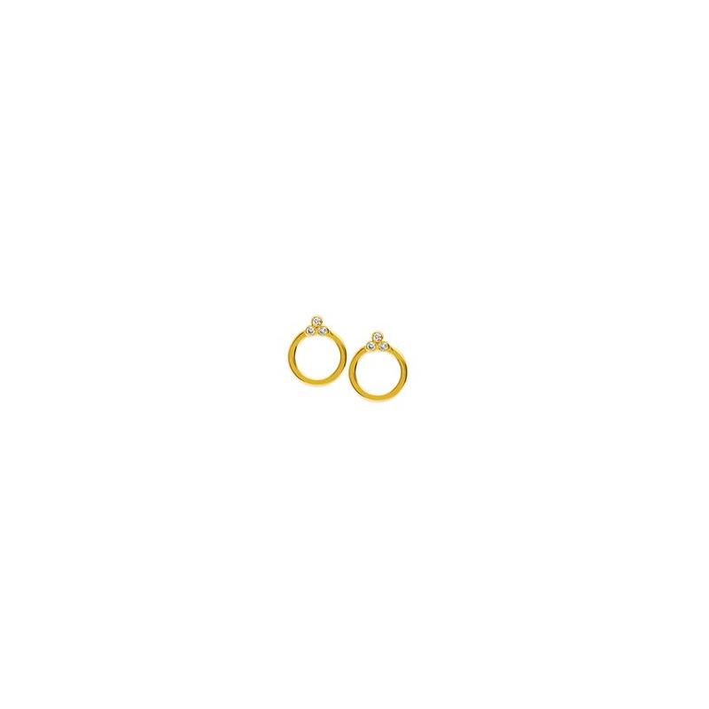 Midas 14K Yellow Gold Diamond Earrings