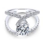 Gabriel Lola 14K White Gold Round Engagement Ring
