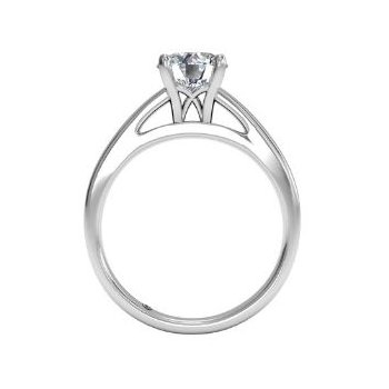 14K White Gold Diamond Engagement Ring 1R7231