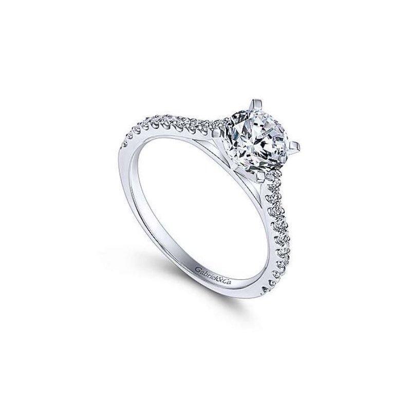 Gabriel Shanna 14K White Gold Diamond Engagement Ring