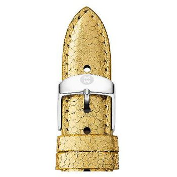 18mm Warm Metallic Gold Leather Strap