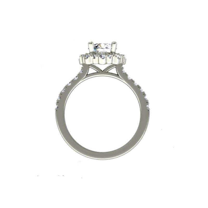 Fana 14K White Gold Diamond Engagement Ring S2674
