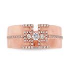 Shy Creation 14k Rose Gold Diamond Ladies Ring