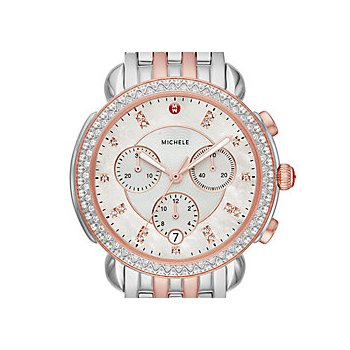 Sidney Two-Tone Pink Gold Diamond Watch