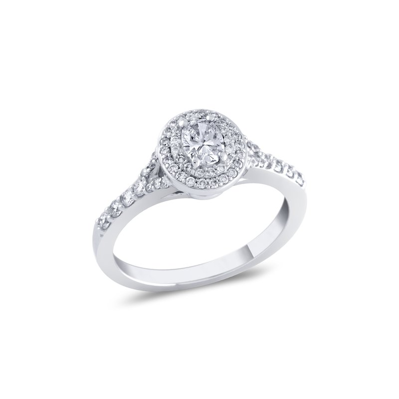 Collage Collection Oval Halo Engagement Ring