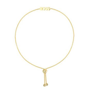 "9.5"" 14K Yellow Gold Mini ""BOSS"" Adjustable Bolo Bracelet"