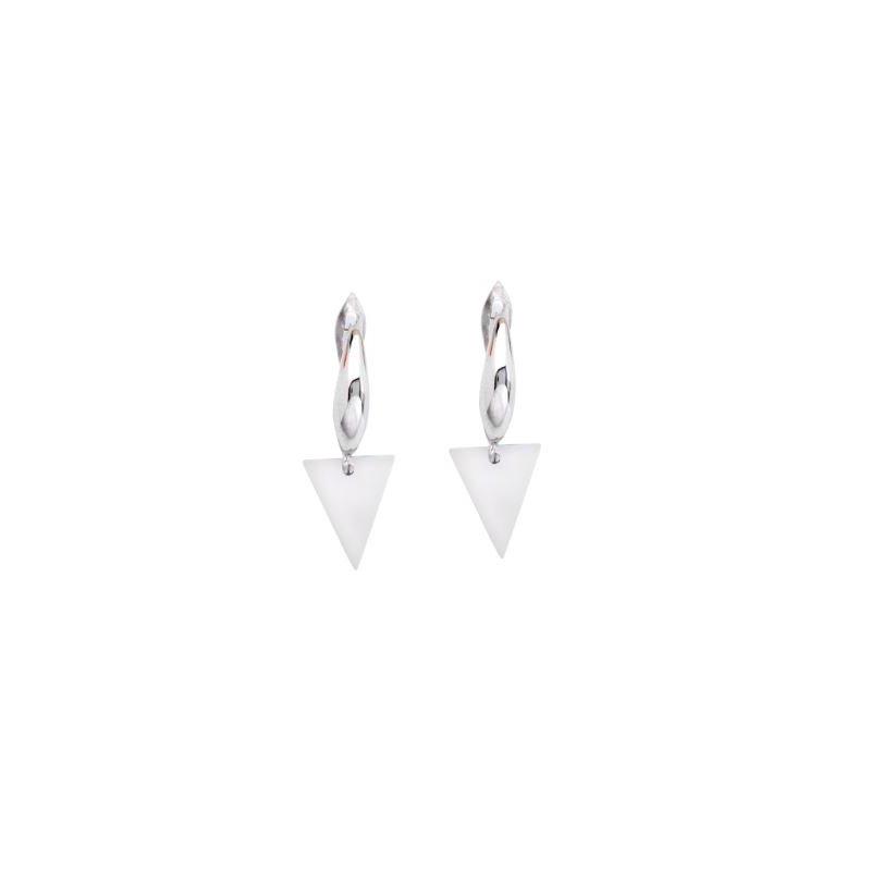 Midas Sterling Silver Triangle Dangle Earrings