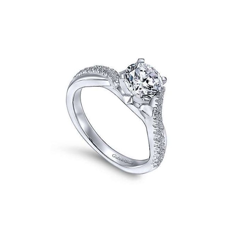 Gabriel Scout 14K White Gold Diamond Engagement Ring