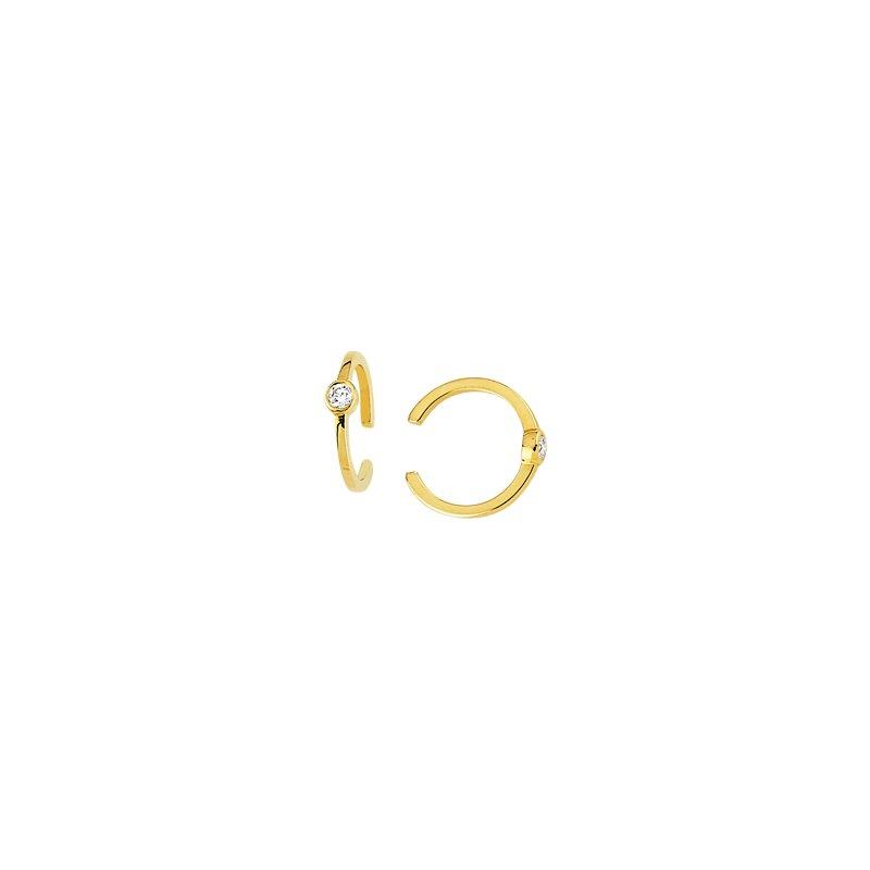 Midas 14K Yellow Gold Diamond Hoop Earrings