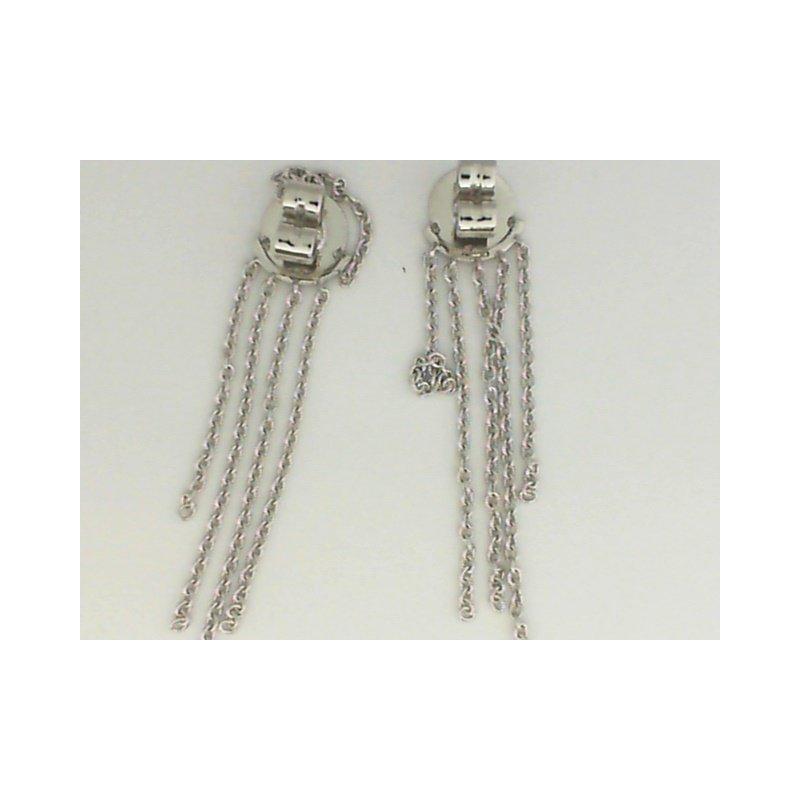 Natalie K 18K White Gold Chain Fringe Earrings