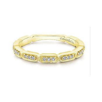 14K Yellow Gold Ladies Diamond Fashion Ring