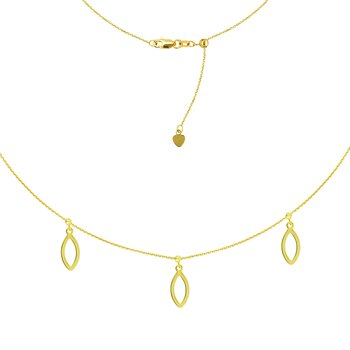 """16"""" Marquise Dangle Adjustable Choker Necklace"""
