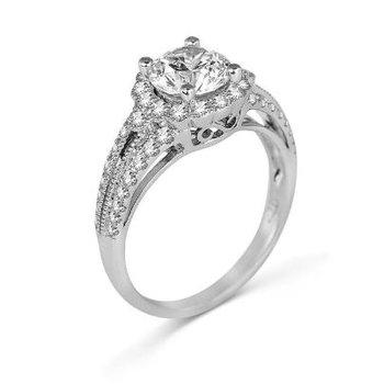 14K White Gold Diamond Engagement Ring S2451
