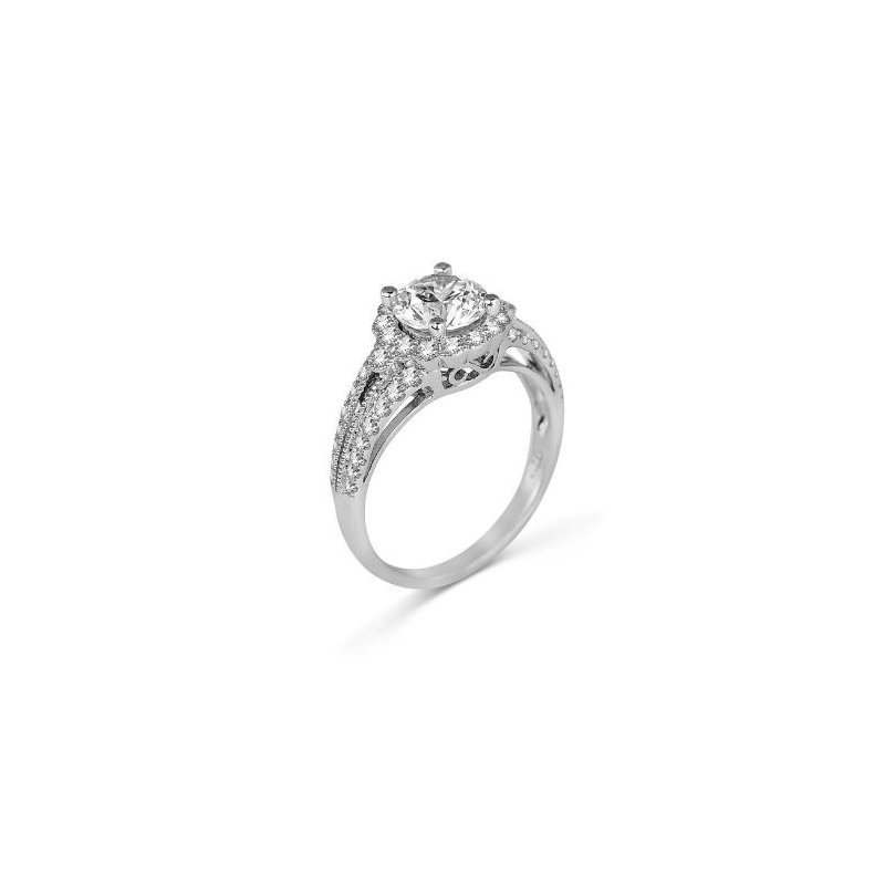 Fana 14K White Gold Diamond Engagement Ring S2451