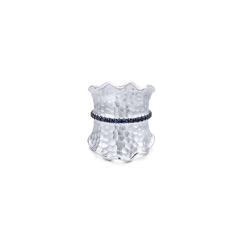Gabriel Sterling Silver Blue Sapphire Fashion Ring LR50572SVJSB
