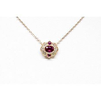 Vintage Ruby and Diamond Pendant