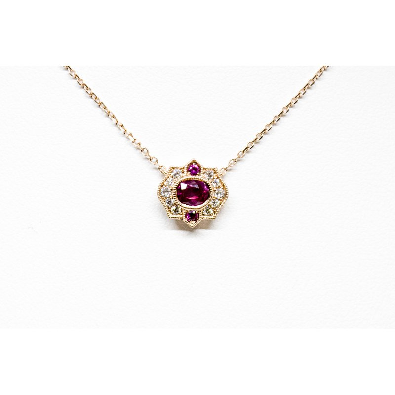 Collage Collection Vintage Ruby and Diamond Pendant