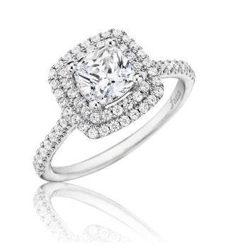 14K White Gold Diamond Engagement Ring S2502