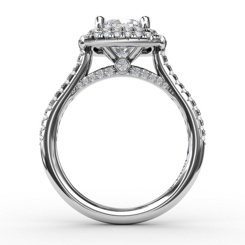 Fana 14K White Gold Diamond Engagement Ring S2502