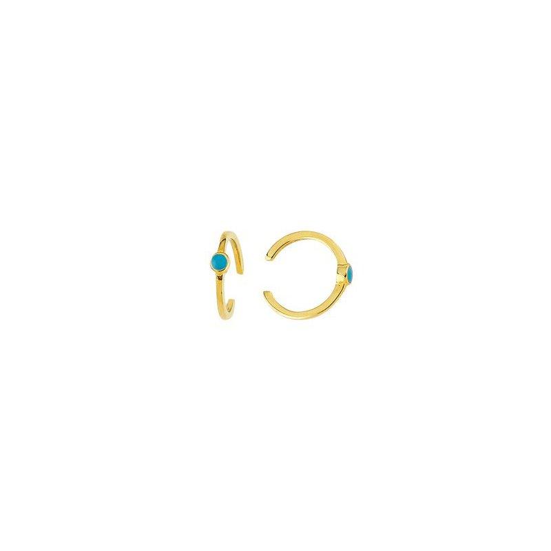 Midas 14K Yellow Gold Turquoise Enamel Ear Cuff