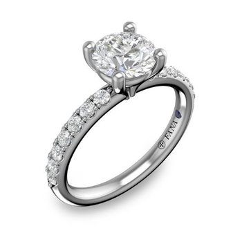 14K White Gold Diamond Engagement Ring S3846