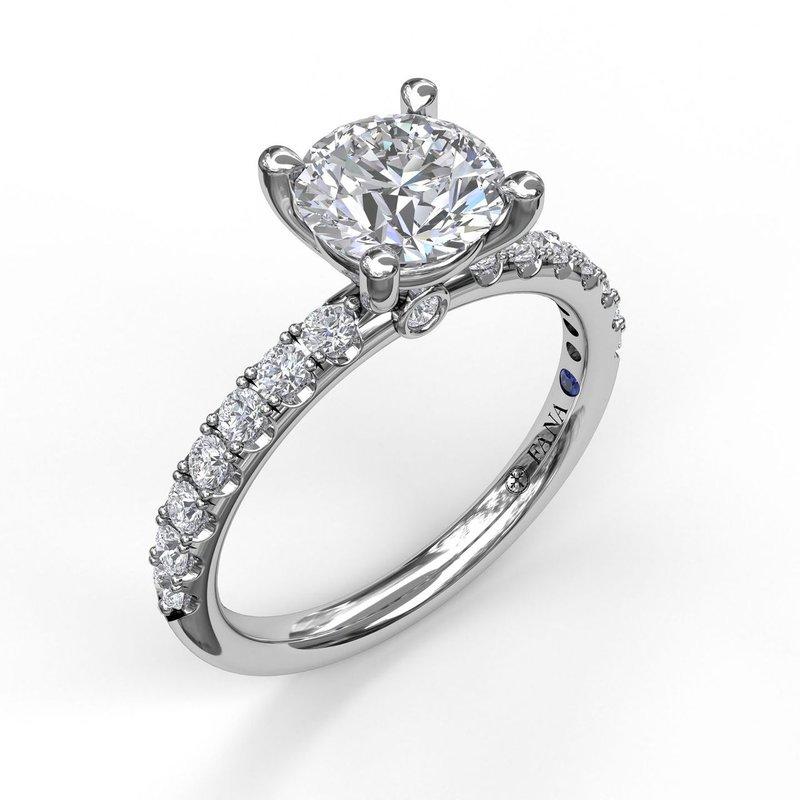 Fana 14K White Gold Diamond Engagement Ring S3846