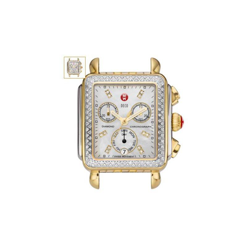 MICHELE Deco Gold Diamond, Diamond Dial Watch