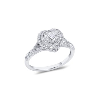 Heart Double Halo Engagement r=Ring
