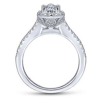 Paige 14K White Gold Pear Shape Diamond Engagement Ring