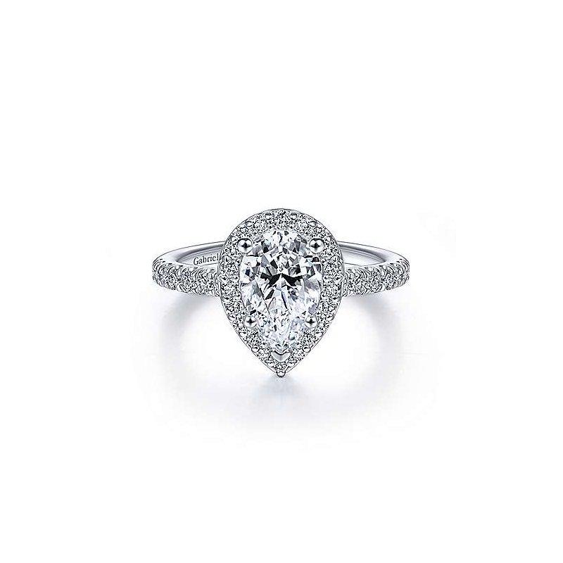 Gabriel 14K White Gold And Diamond Lyla Engagement Ring
