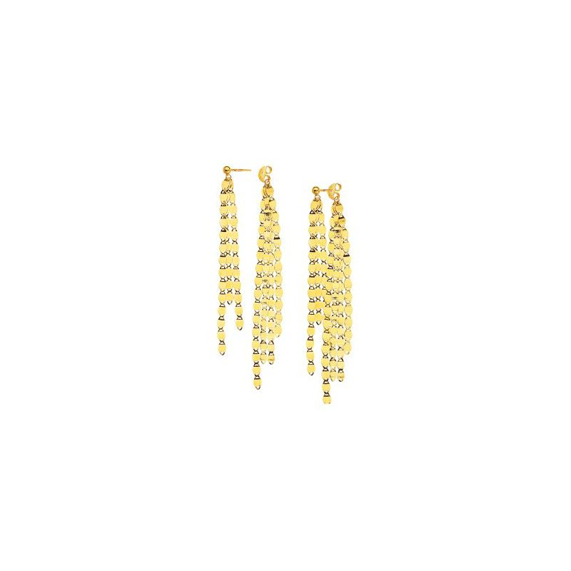 Midas 14K Yellow Gold Valentino Fringe Front & Back Earrings
