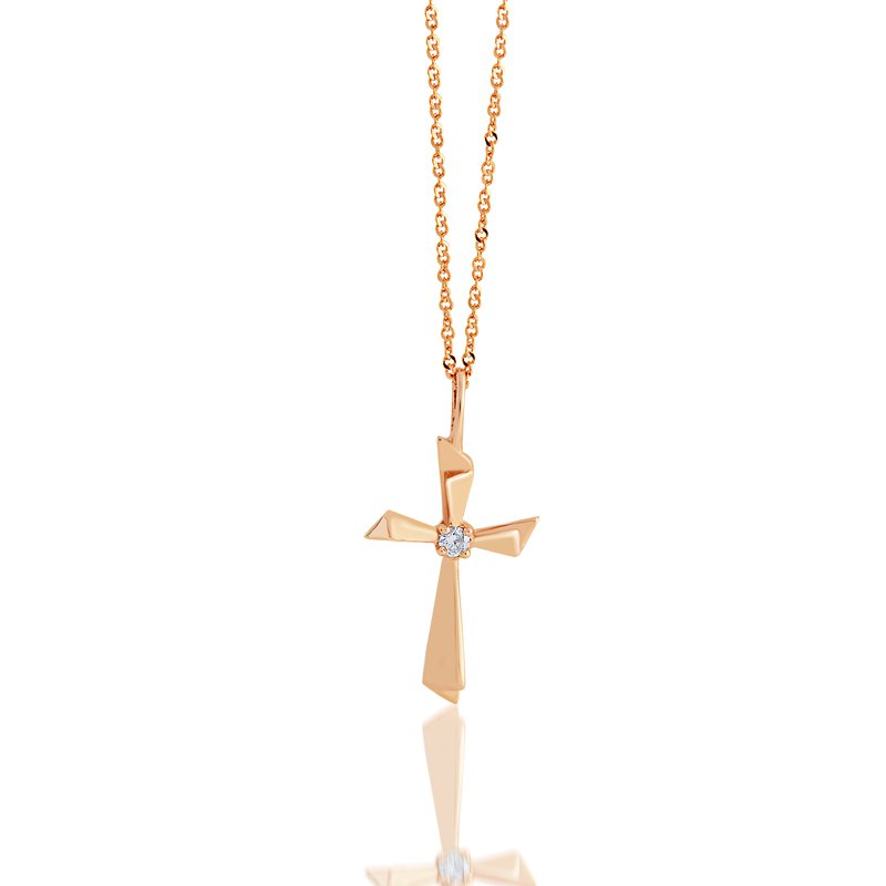 Collage Collection Rose Gold Diamond Cross pendant