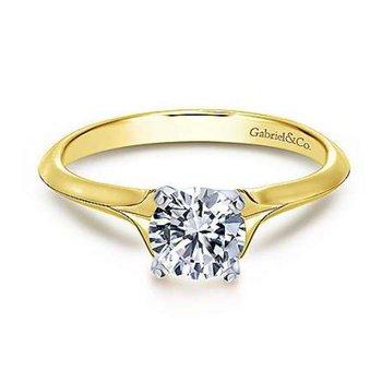 Ellis 14K Yellow Gold Round Diamond Engagement Ring